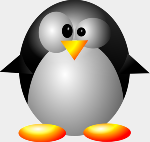 Crazy Penguin Clip Art