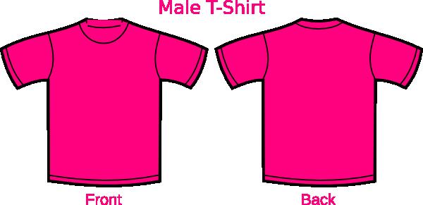 Pink Mens Tshirt Clip Art at Clker.com - vector clip art online ...