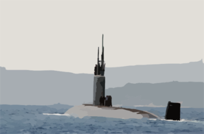 The Uss Hampton (ssn  767) Departs Souda Harbor Following A Brief Port Visit To Souda Bay, Crete Clip Art