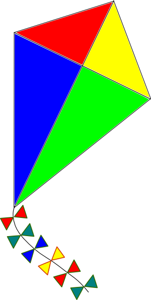 clipart kite flying - photo #18