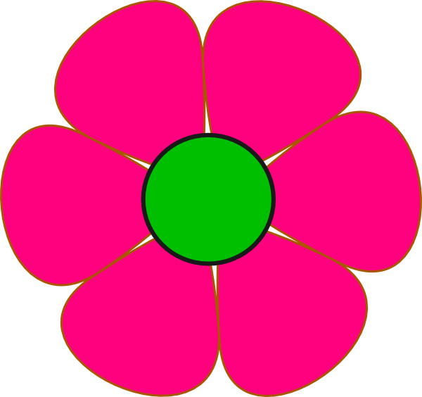Pink And Green Flower Clip Art At Clker Vector Clip Art Online