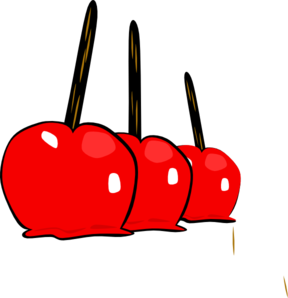 Yummy Candy Apples Clip Art
