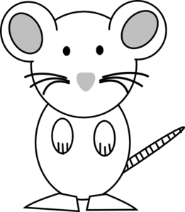 Mouse -white Clip Art at Clker.com - vector clip art ...