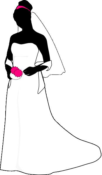 Black White Pink Bride Logo Clip Art At Clker Com Vector