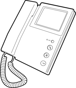 Outline Voip Telephone Clip Art
