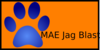 Blue Paw Print With Mae Jag Blast Clip Art