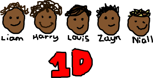 One direction clip art at clker vector clip art online download this image as voltagebd Choice Image