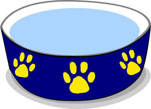Cat Food Bowl Clipart