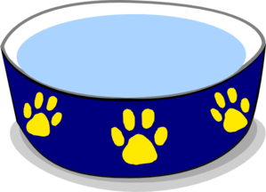 dog water bowl clip art at clker com vector clip art online rh clker com dog dish clipart dog bowl clipart free