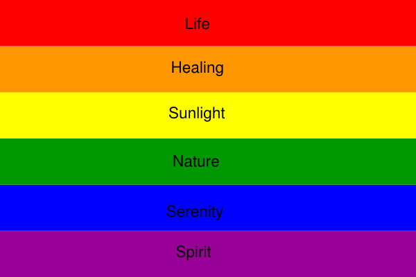 Gay rainbow colors