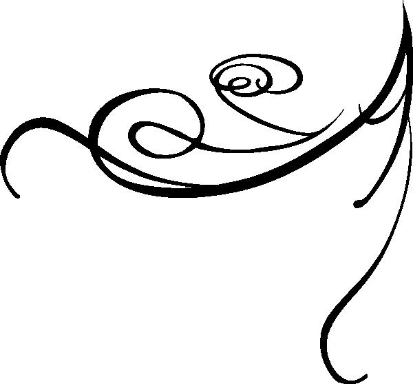 Black Decorative Swirl clip artBlack Swirl Line Clip Art