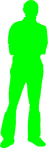 Silhouette Man Green Clip Art