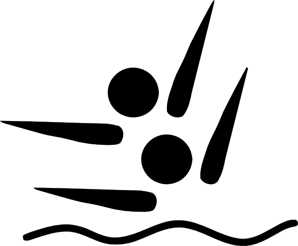 Synchronized Swimming Logo Clip Art at Clker.com - vector clip art ...