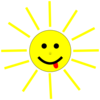 Funny Sun Face Cartoon Clip Art