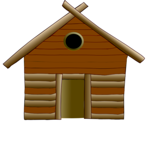 Old Style House Clip Art