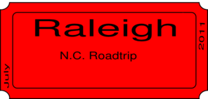 Raleigh Ticket Clip Art