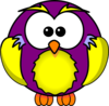 Gold And Purple Owl Clip Art