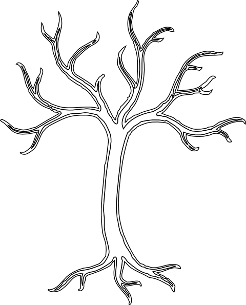 White Dead Tree Clip Art At Clker Com Vector Clip Art