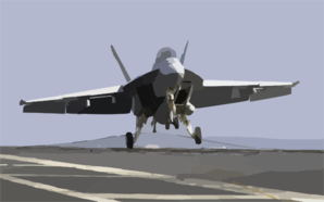 An F/a-18f Super Hornet Makes An Arrested Landing On The Flight Deck Of Uss John C. Stennis (cvn 74). Clip Art