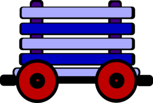 Loco Train Carriage Blue Clip Art