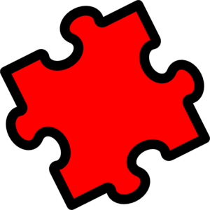 Puzzle Piece Red Clip Art