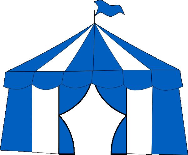 Download this image as  sc 1 st  Clker & Blue Circus Tent 2 Clip Art at Clker.com - vector clip art online ...