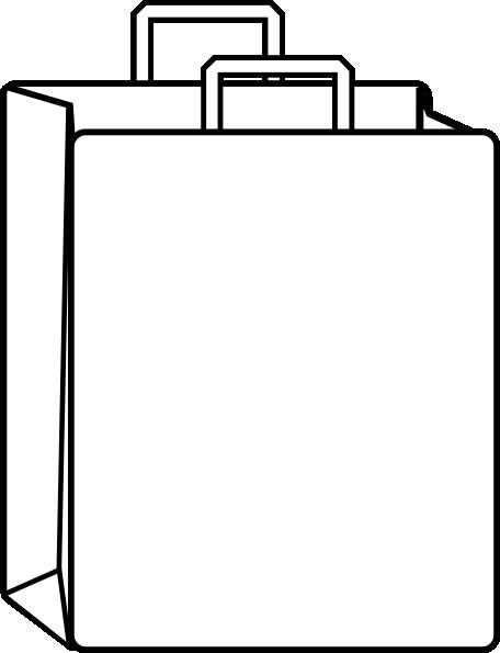 paper bag outline clip art at clker com vector clip art online rh clker com paper bag clipart free paper bag princess clipart