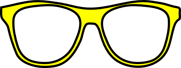 Cool Glasses Clipart Yellow Glasses Clipart