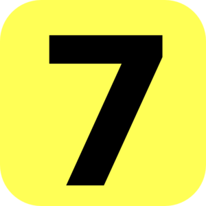 Yellow Rounded Number 7 Clip Art at Clker.com - vector clip art online ...