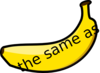 Banana Maths Vocabulary The Same As Clip Art