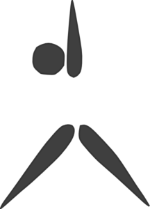 Dark Exercise Figure Clip Art