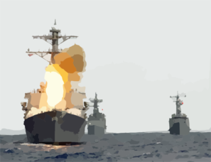 U.s. Navy Destroyer Launches An Sm-2 Missile. Clip Art