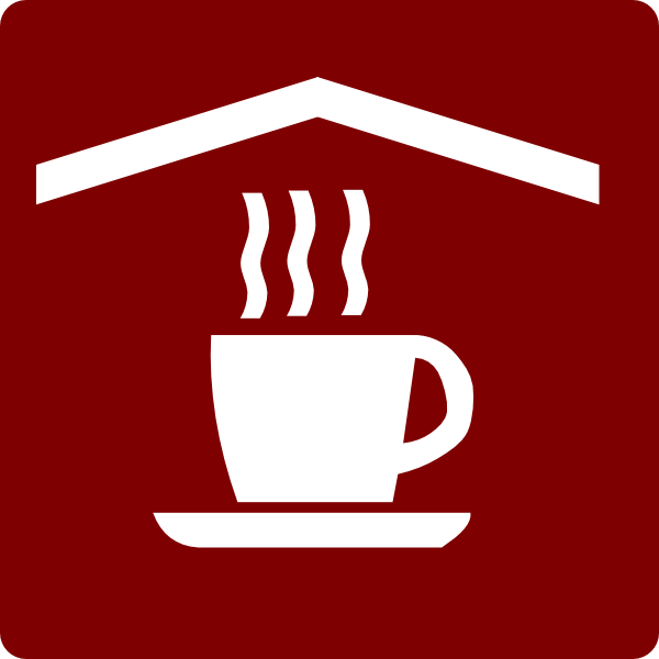 Hotel Icon In Room Coffee And Tea Clip Art Red White