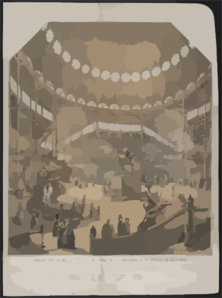 Interior View Of The New York Crystal Palace For The Exhibition Of The Industry Of All Nations Clip Art