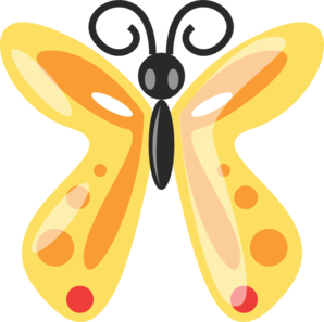 Spotted Butterfly Clip Art