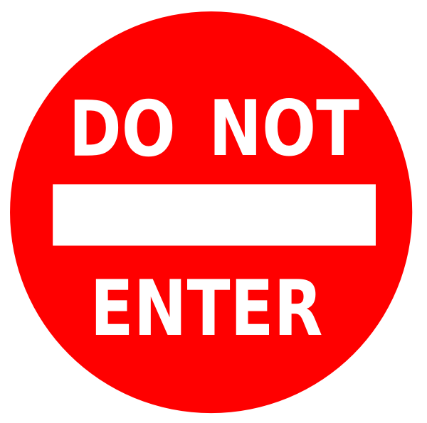 Do Not Enter Sign Clip Art at Clker.com - vector clip art ...