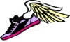 Running Shoe With Wings Purple/pink Clip Art