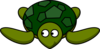 Turtle Looking Left Clip Art