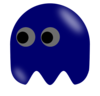 Pacman Ghost Left Looking Clip Art