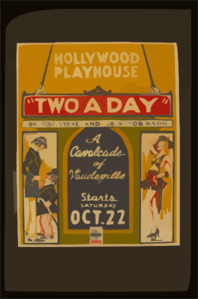 Two A Day  By Gene Stone And Jack Robinson A Cavalcade Of Vaudeville. Clip Art