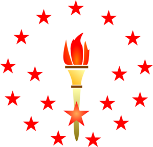 Red Torch Big  Clip Art