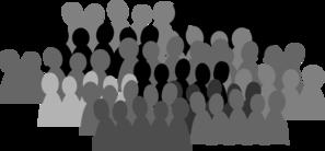 Smaller Crowd Clip Art at Clker.com - vector clip art ...