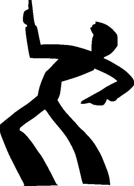 Dancing Man Silhouette Clip Art At Clker Vector Clip Art