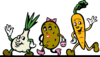 Running Vegetables In Color Clip Art