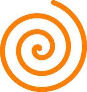 Orange Spiral Clip Art