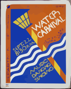 Water Carnival Music, Dancing, Singing. Clip Art