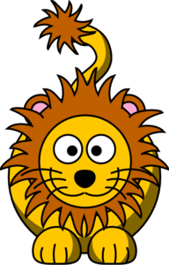 Cartoon Golden Lion Clip Art