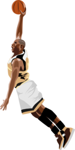 Slamdunk Basketball Clip Art