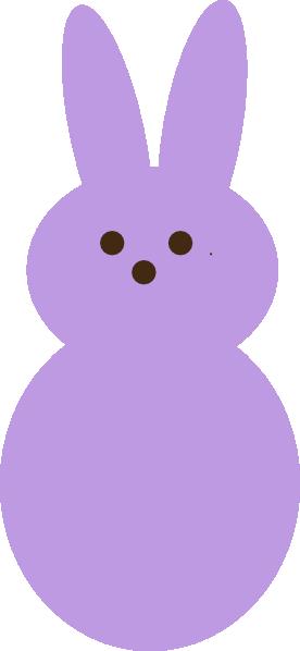 Peeps Bunny Clipart Purple peep clip art - vector