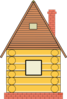 Russian Wood House Clip Art